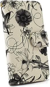 whitenuts 手机保护壳 笔记本式 装饰线 黑 13_ DIGNO T 302KC