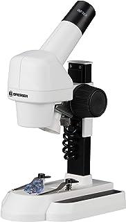 Bresser 碧然德 Junior 显微镜 20 倍放大 双色物体板和 LED 照明