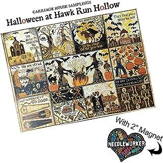 Hawk Run 万圣节圣节圣节十字绣图案加装饰针刺工人磁铁