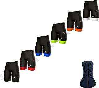 Sparx 男式 Active 铁人三项短裤 骑行短裤 游泳自行车跑步