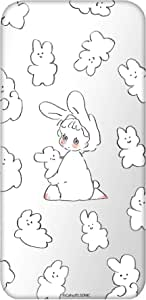Caho 壳 透明 TPU 印刷 兔子 背景透明WN-LC1024462 4_ AQUOS R2 SH-03K 兔子D