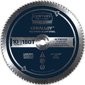 Century 钻孔和工具共合金全硬钢胶胶合板圆形锯片 10-inch by 180T 8216