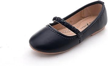 Mila Girls 幼童行走芭蕾舞平底鞋,帶舒適縫紉襯墊鞋墊