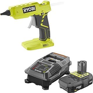 Ryobi 胶水枪 P305 带充电器和锂离子电池 P163 18 伏 ONE+ 2.0 安电池和充电器