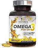Nature's Nutrition omega 3 鱼油三倍效力 EPA & DHA 2400 毫克 ,无鱼腥味,柠檬味。180 Softgels 180.00