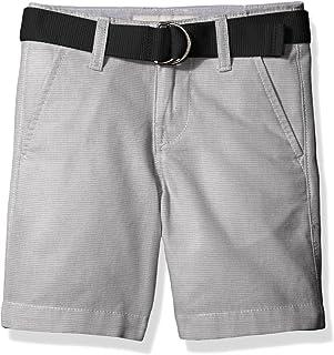 Calvin Klein 男童水平条纹条纹无褶短裤