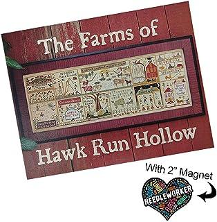 Hawk 农场跑步空心十字绣图案加装饰针工磁铁