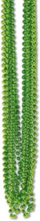 Beistle 50570KLG Bulk 720-Pack Small Round Party Beads, 7mm by 33-Inch, Light Green