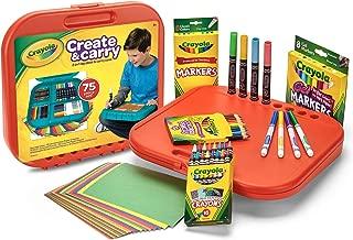 Crayola 繪兒樂 兒童藝術家禮盒 75件繪畫套裝 (內含2合1便攜手提箱/繪畫板 水彩筆,馬克筆,蠟筆,彩色鉛筆和彩紙)