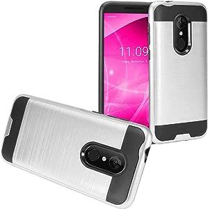 Z-GEN - T-Mobile REVVL 2(5.5 英寸)REVVL2 5052W - 拉丝式混合保护套 CS3 Black/Silver