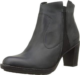 Palladium 女士 Shiner Csr 靴子,黑色皮革,10 M