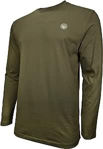 Beretta 男式美国标志 T 恤长袖棉 军绿色 X大码