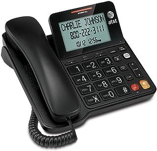 AT&T CL2940 有线电话带免持话筒,超大倾斜显示/按钮,呼叫者识别/呼叫等待和音频辅助,黑色 1包 黑色