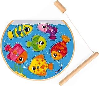 Janod J07088 Speedy Fish 拼图 磁铁鱼 鱼 多色