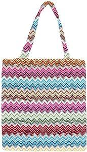 Signare 挂毯可重复使用食品环保购物手提袋,时尚图案设计 Aztec 中