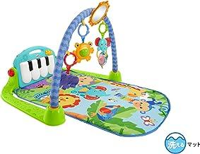 Fisher-Price BMH49 熱帶雨林鋼琴運動館 嬰兒游戲墊 帶有音樂和燈光 含綠色玩具及嬰兒設備 適合新生兒寶寶