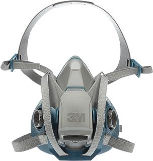 3M 6502QL 坚固耐用且舒适的快速闩锁半面呼气口罩,可重复使用,气体,蒸气,粉尘,中号