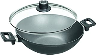 Woll Nowo Titanium 12-1/2-Inch Wok with Side Handles and Lid