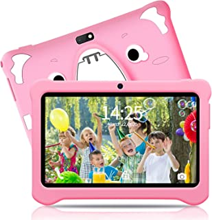 儿童平板电脑,儿童教育平板电脑,7英寸安卓9.0谷歌认证平板电脑,带防震保护套学习应用WiFi双摄像头,32 GB,IPS**保护屏幕A40 7 inch