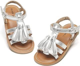 Bear Mall 女童鞋柔软橡胶公主平底鞋夏季女婴凉鞋(幼儿/小童)