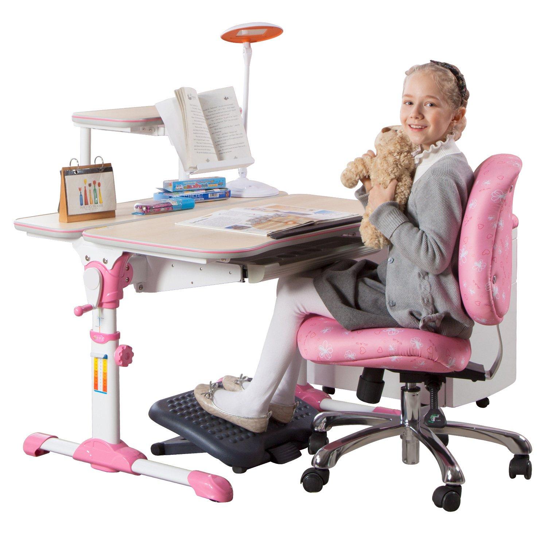 台湾心家宜 儿童青少年矫正坐姿可升降桌椅套装 1580元,两色可选
