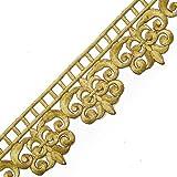 铁质金属花边饰边适合新娘、服装或珠宝、工艺和缝纫,6.03 厘米 x 2.54 厘米,SMB-3011 Gold / 2-yards SMB-3011-GD2Y