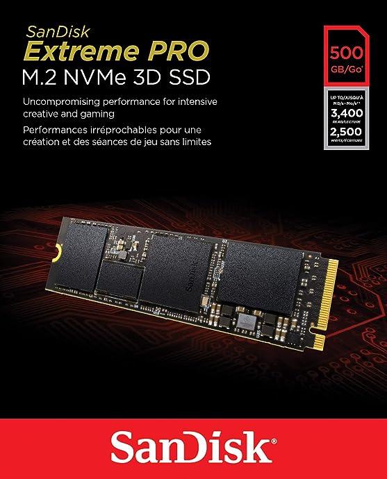 SanDisk 闪迪 Extreme Pro 至尊超极速3D版 M.2 NVMe 固态硬盘 500GB ¥514