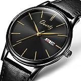 AngeLa Bos正品品牌手表 简约时尚商务超薄防水男款皮带石英腕表 复古潮流钢带男表