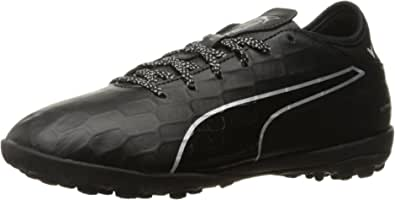 PUMA 男士 Evotouch 3 TT 足球鞋 Puma Black-puma 黑色 puma 银色 5.5