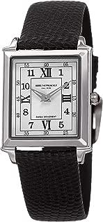 Bruno Magli 女士 Valentina Romana 瑞士石英背心式意大利皮革表带手表