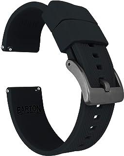 Barton Elite 硅胶表带 - 黑色扣快速释放 - 选择颜色 - 18mm、19mm、20mm、21mm、22mm、23mm 和 24mm 表带