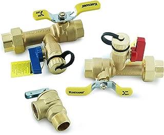 Kozyvacu 3/4 英寸 IPS 隔热器无油热水器服务阀套件,清洁黄铜构造