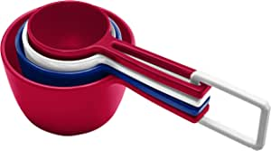 Zak Designs Measuring Cups & Spoons Sets, Red/White/Blue Red/White/Blue
