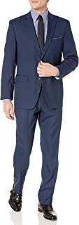 Perry Ellis 男式两件套修身西装 Blue Dobby 48 Long