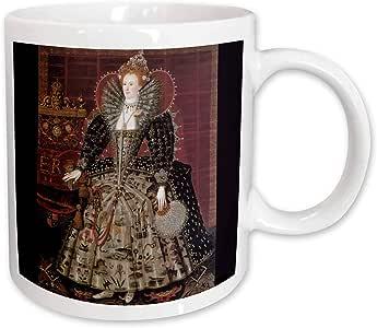 3dRose Elizabeth I of England c.1592 by Nicholas Hillard Studio Ceramic Mug, 15-Ounce