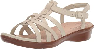 Clarks Loomis Katey 女士锡制金属皮革凉鞋
