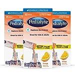 Pedialyte 电解质水冲剂,香橙味,3盒装,每盒6包,共18包,每包0.6盎司(17g)