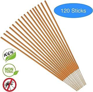 PLATANUS - 120 支 - 植物性驱蚊香棒 - 注入竹子、香茅和迷迭香 - 环保,*,*,无滴剂 - 香棒