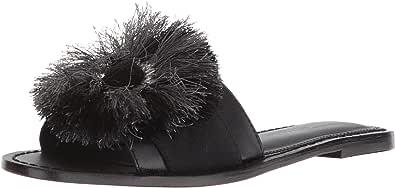 Kenneth Cole New York Orton 女士拖鞋带圆形流苏细节 黑色 6 M US