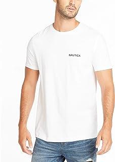 Nautica 男式短袖纯色圆领 T 恤