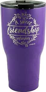 友谊雕刻旅行保温杯 紫色 30oz