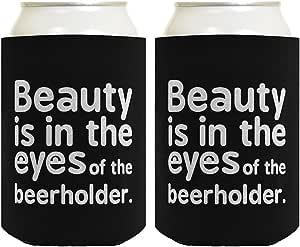 Beauty is in Eyes of the Beerholder 多件装冰箱饮料冷却器冷却器 黑色 14141183