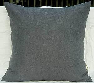 "TangDepot 纯色羊毛抱枕套/欧式枕套/靠垫枕套,超豪华柔软枕套 - 手工制作 - 多种颜色及尺寸可选 灰色 12"" x 12"" TPCover-WoolLike-12x12Grey"