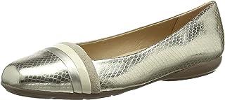 Geox 女士 D Annytah A 封闭芭蕾舞鞋 Gold (Gold/Cream C2268) 36 EU