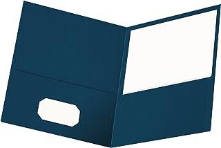 Oxford 双口袋文件夹,信纸尺寸,每盒 25 个 1包 蓝色