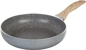 """Country Kitchen 不粘铝煎锅,带软触摸硅胶手柄 - 大理石灰色 灰色 8"""" Skillet unknown"""