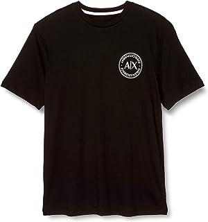 [阿玛尼 EXTANGE ] T恤 T-shirt 男士 黑色 EU S (相当于日本尺寸S) [平行进口商品]
