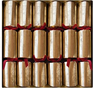 Entertaining with Caspari Celebration Crackers, Antique Gold, 12-1/2-Inch, Box of 6