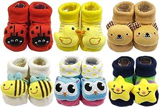 可包裝可愛3?D 卡通 anti-skid 嬰兒浴衣襪子拖鞋 SHOES ( 6件套 )