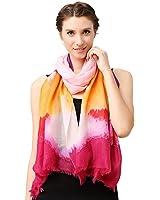 Glovin 高端系列 女式 200支羊绒斜纹印花围巾披肩(横款) G15024040